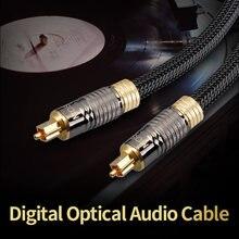 Moshou digital cabo de áudio óptico oxyacid spdif fibra dolby dts som 5.1 7.1 para amplificador tv blueray ps4 xbox dvd 5m