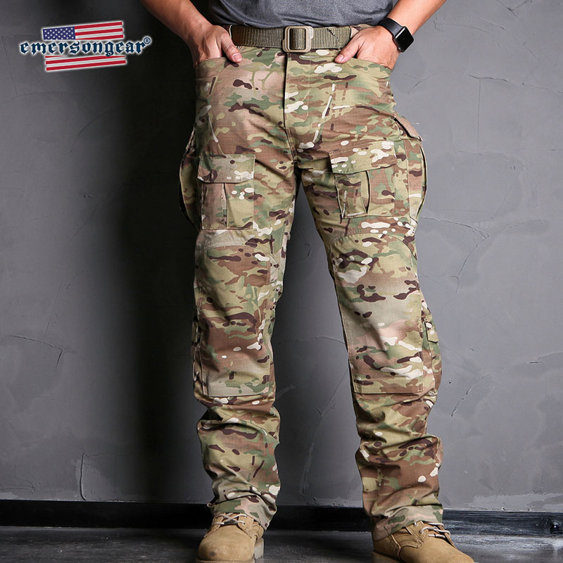 Emersongear  Blue Label Field Pants CP Style Camo Mens Outdoor Cargo Trousers Military Army Combat Tactical Pants Camoflage