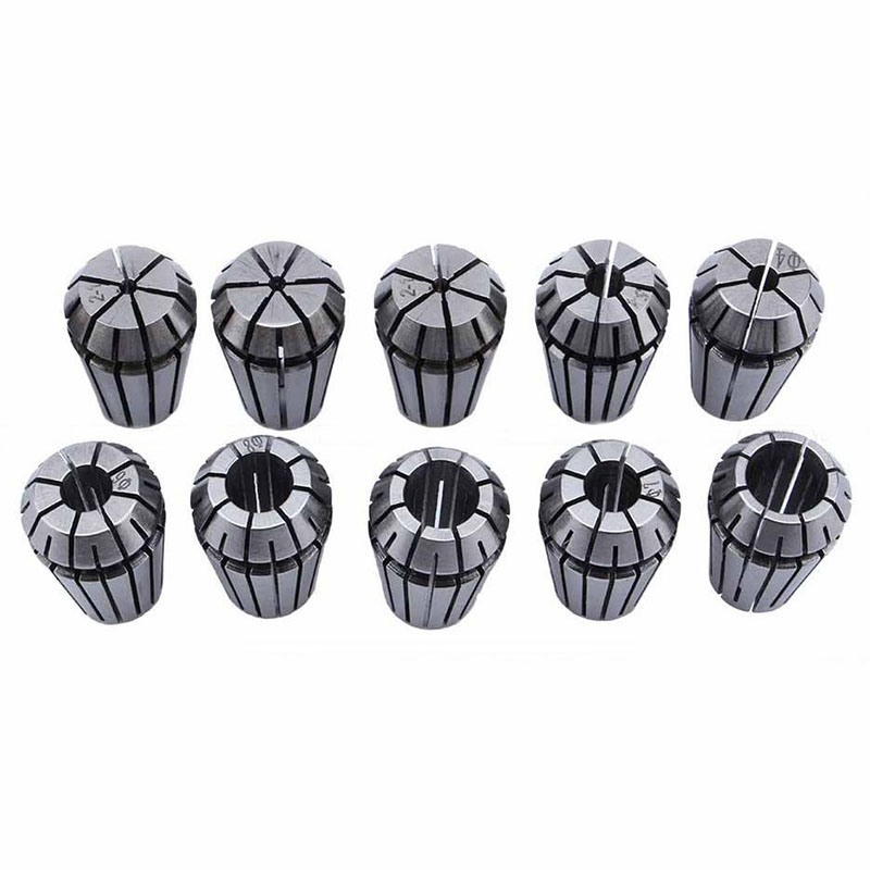 10Pcs/Set Ultra Precision ER16 1-10MM Spring Collet Set For CNC Milling Lathe Tool Engraving Machine