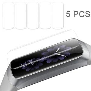 Image 1 - 5 Pcs רך Ultra דק סרט משמר עבור Samsung Galaxy Fit & Fit E ברור מסך מגן עבור Galaxy Fit E נגד שריטות TPU סרט