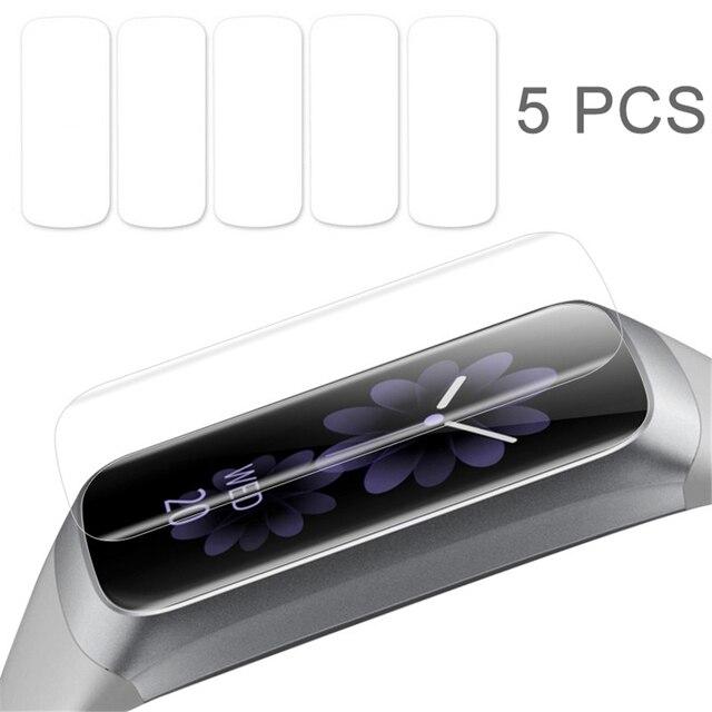 5 Pcs רך Ultra דק סרט משמר עבור Samsung Galaxy Fit & Fit E ברור מסך מגן עבור Galaxy Fit E נגד שריטות TPU סרט