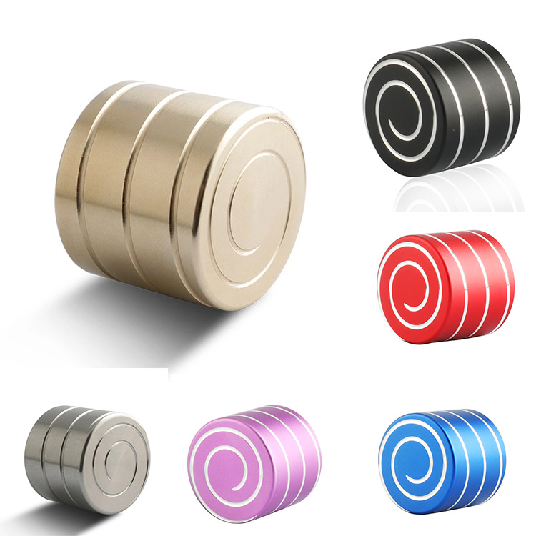 Outdoors Men Mini Hypnosis Rotary Gyro Fingertip Toy Fidget Spinner Cube Desktop Top Finger Venting Decompression Alloy Gifts