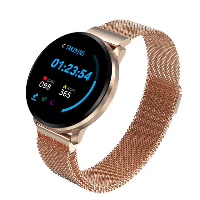 Excelente Reloj inteligente deportivo unisex, reloj inteligente Led impermeable con frecuencia cardíaca y podómetro de presión arterial, reloj para Android