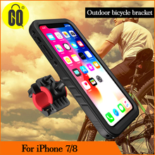 Bike phone holder Motorcycle GPS Handlebar Cradle Bicycle stand Mount for iPhone 7/for 8 Shockproof Case 360 Rotate