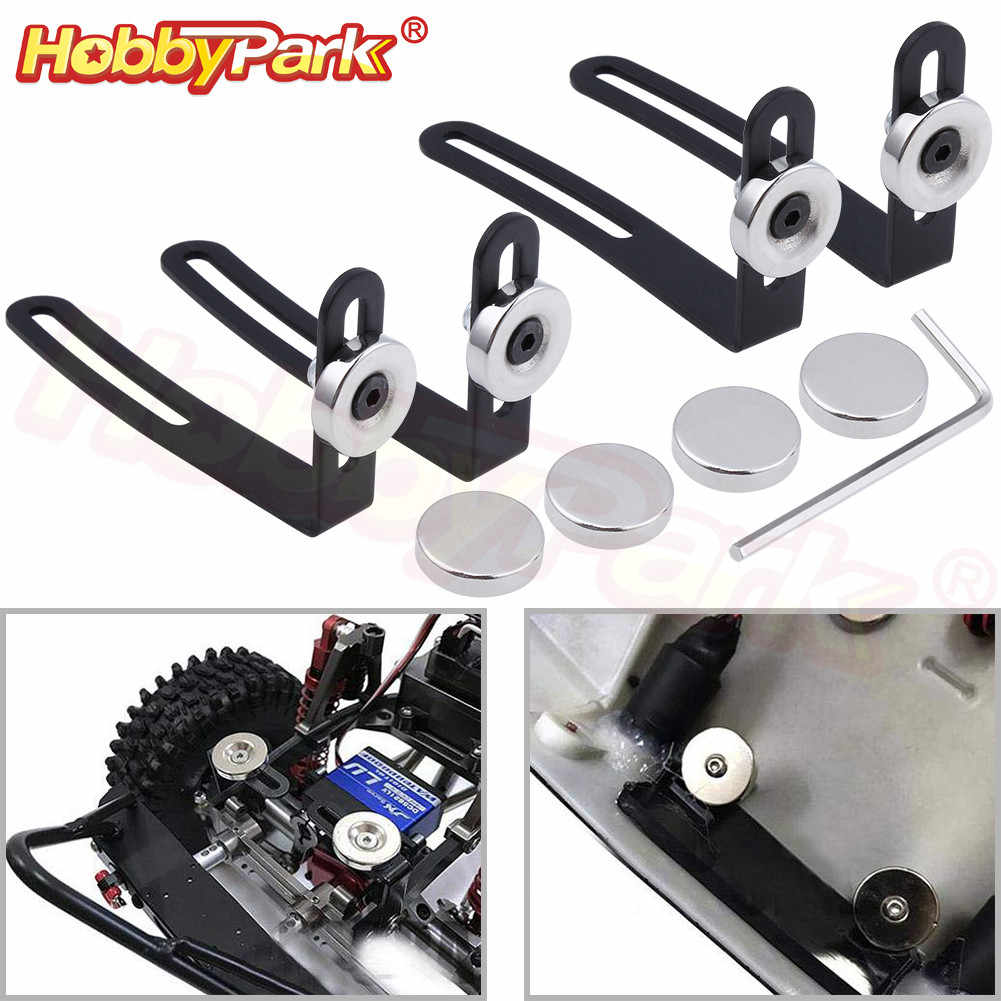 4pcs Invisible Magnetic Body Post Mount for 1//10 AXIAL SCX10 4WD RC Car
