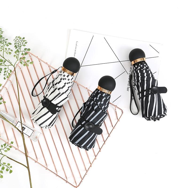 Currently Available Supply Half Off 8-Strand Extra-large Vinyl Stripes Umbrella Parasol All-Weather Umbrella Folding Umbrella Pa