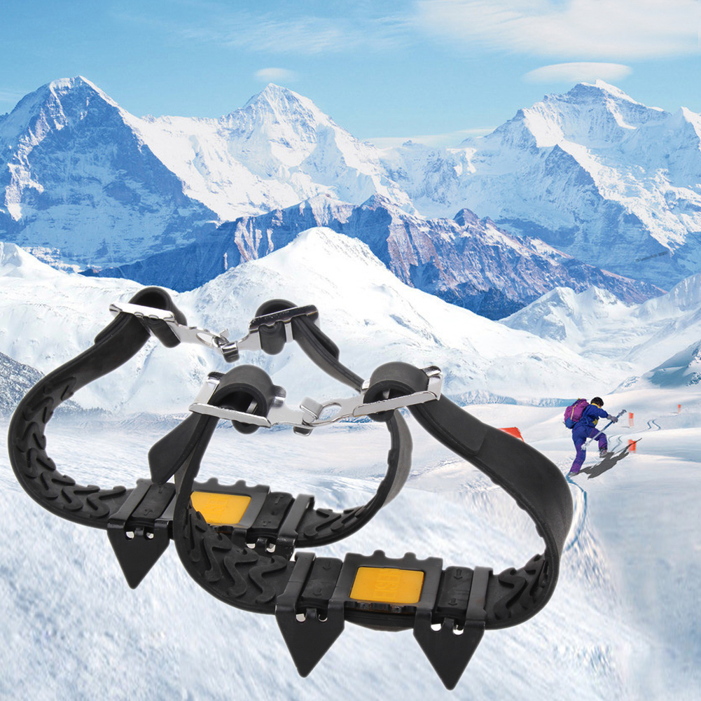 Anti Slip Snow Ice Climbing Spikes Grips Shoes Cover For Snow And Ice Hiking UK、