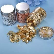 1 butelki żywiczne wypełnienia złote płatki liści złoto srebro konfetti wypełnienie dla DIY epoksydowe rzemiosło żywiczne zdobienie paznokci dekoracje