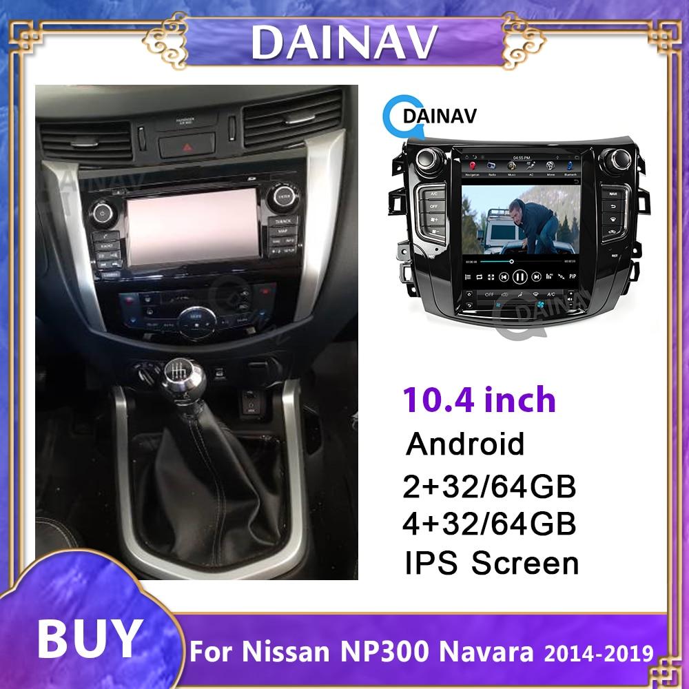 10,4 pulgadas 2 Din Auto Radio Multimedia para NISSAN NP300 Navara 2014-2019 pantalla Vertical Auto REPRODUCTOR DE DVD navegador GPS