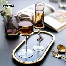 Schwimm Galvani Glas Champagner Gläser Becher Nördlichen Europa Blenden Farbe Wein Glas Champagner Glas Rotwein Glas
