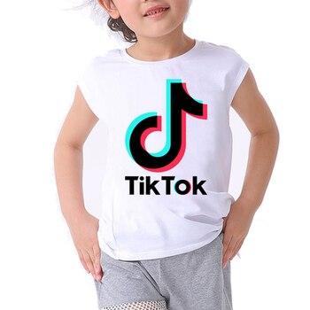 boy t shirt for girls tops musical note print graphic tee children clothing tiktok kids clothes girls 8 to 12 boys tops summer girls banana print tee