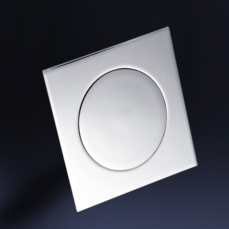 Image 5 - IIBizza Pop Up Foot Floor Drain Brass Chrome Plated Bathtub Push Down Deodorization type Square Modern Floor Cover Plug 10*10cmDrains   -