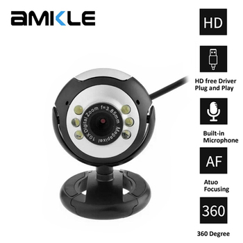 HD USB Webcam Camera with Mic microphone Night Vision Web Cam For PC Laptop Web Camera PC Webcam Video Calling Computer Cams coforcare 1080p hd webcam usb hd pc camera dual microphone mic for skype for android tv computer ip camera usb web cam