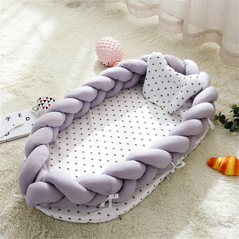 1 Pcs New Cotton Bionic Bed Washable Portable Baby Bed Multi Functional Travel Crib Bed With Bumper Newborn Mattress