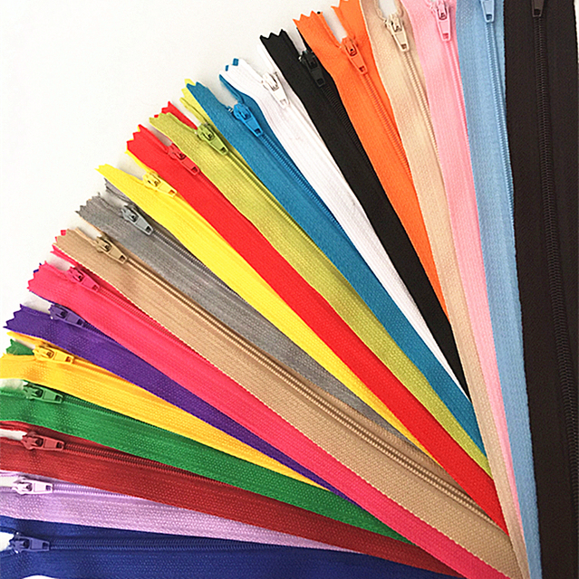 10pcs 10-60cm (4inch-24 Inch) Nylon Coil Zippers Tailor Sewer Craft Crafter's  (20 colors)