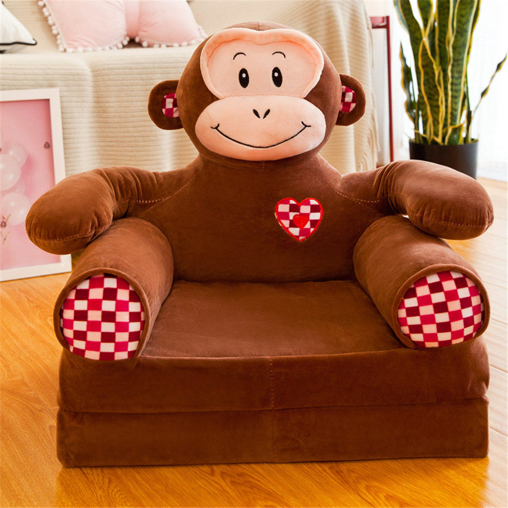 Baby Seats & Sofa  Furniture Only Cover NO Filling Cartoon Foldable Seat Children Chair Toddler Sofa Folding Multi-layer