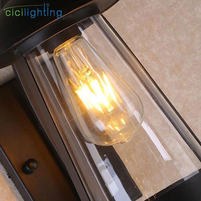 Moderno de vidro claro sombra lâmpada parede