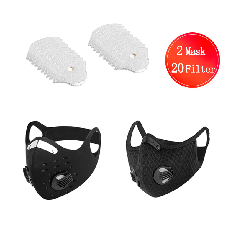 Dustproof Air Filter Mask Breathable Double Valve Dust Mask Respirator Dust Mask Mouth Respirator Cycling Mask For Men Women