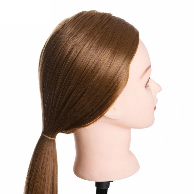 60cm real cabelo humano cabeleireiro formação manequim