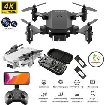 ZITY S66 FPV Mini Drone With Camera HD RC Foldable Drone 4K Professional Wifi Double Camera Drones Quadcopter RC Drone Mini Toys 1