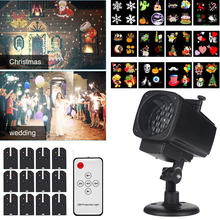 Christmas Projector Lights Waterproof LED Laser Snowflake Projector 12 Film Cards Stage Light for New Year Christmas Home Garden цена 2017