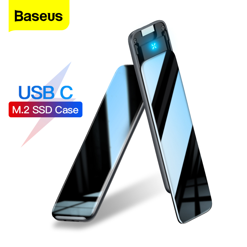 Baseus M2 SSD Case M.2 SATA Solid State Drive Box Adapter Type C Case B/M+B Key 5Gbp SSD Disk External Enclosure Docking Station