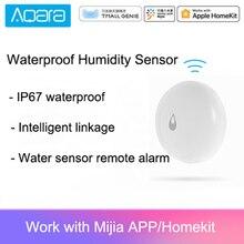 Oryginalny Aqara IP67 wodoodporny czujnik wilgotności inteligentny czujnik wody w domu zdalnego alarmowego kontrola aplikacji