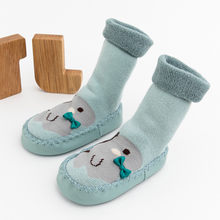 Newborn baby socks Baby Boys Girls Cartoon Cute Warm Floor Anti-Slip Baby Step children's socks cheap stuff toddler girl shoes(China)