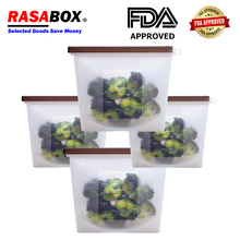 RASABOX - Food Storage & Organization Sets, Reusable Silicone Bags, Freezer for Snack Lunch Sandwich Sous Vide, Cooking