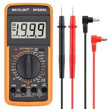 Profesjonalny multimetr cyfrowy MY9205A miernik testujący instrukcja zakres miernik napięcia True RMS Tester próbnik elektroniczny narzędzie elektryka
