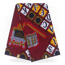 2020 New arrival 100% cotton Guaranteed african wax cloth Ghana wax Ankara Women 6yards/piece For Party Dress(China)