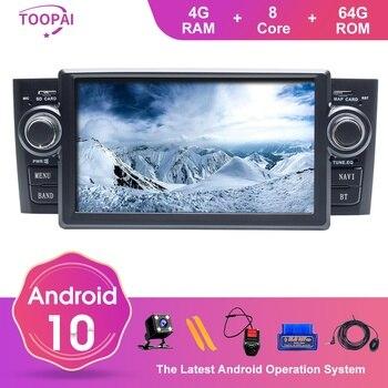 цена на TOOPAI Android 10 For Fiat Grande Punto Linea 2007 2008 2009 2010 2011 2012 Auto Radio GPS Navigation Car Multimedia Player New