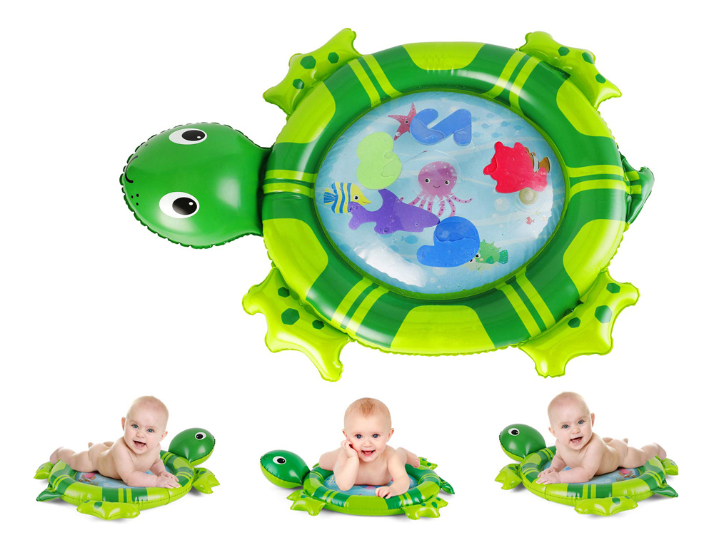 H3475eb9222814c29933fc484b1c4fecby 36 Designs Baby Kids Water Play Mat Inflatable PVC Infant Tummy Time Playmat Toddler Water Pad For Baby Fun Activity Play Center