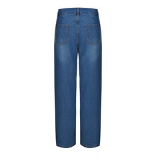 Mid Waist Sunflower Print Wide Leg Jeans Pants SF