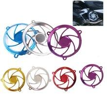 Алюминиевый Сплав мотоцикл ремонт сборки вентилятор крышка колеса узор декоративный вентилятор крышка
