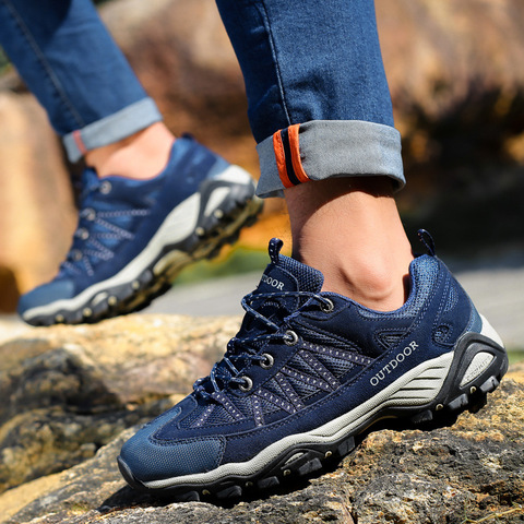 35-46 Couple Outdoor Trekking Shoes Men Breathable Wear-resistant Hiking Shoes Woodland Camping Walking Shoes zapatos senderismo Karachi