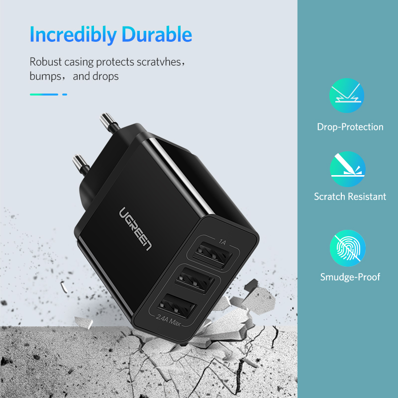 Image 4 - Ugreen usb 充電器 xs × 8 7 高速電話充電器サムスン xiaomi huawei 社壁の充電器 eu  アダプタ携帯電話充電器 -    グループ上の 携帯電話