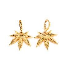 Africa Women Party Gift Cannabiss Weed Marijuan Leaf charms women Vintage Accessory for Women / Girls kids party jewelry gift(China)