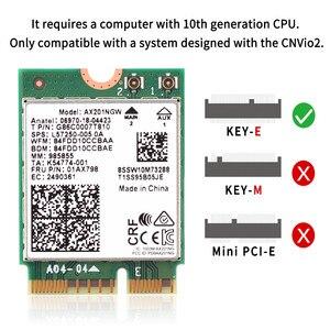 Image 2 - 2.4 5gbpsのデュアルバンドのwi fi 6 AX201ワイヤレスアダプタbluetooth 5.0インテルAX201 AX201NGW ngff鍵e M.2 802.11ax CNVIO2無線lanカード