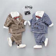 Fashion Formal Boys Suits Wedding Suits for Boys Cotton Plai