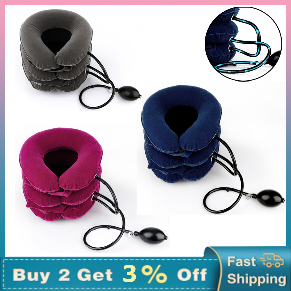 Neck Stretcher Air Cervical Traction 3 Tubes House Medical Devices Orthopedic Pillow Collar Pain Relief Relaxation Brace