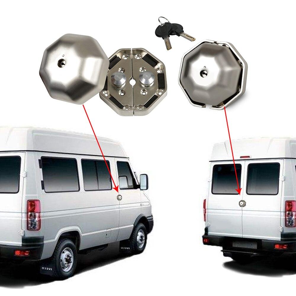 2 предмета в комплекте грузовой фургон дверной замок для тяжелых условий эксплуатации гаража сарай безопасности дверей, Безопасность устро...