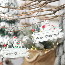 New Christmas Decoration for Home Door Pendant Christmas Tree Ornaments Hanging Gifts Xmas Decor Letter Plate Door Window Pendan(China)