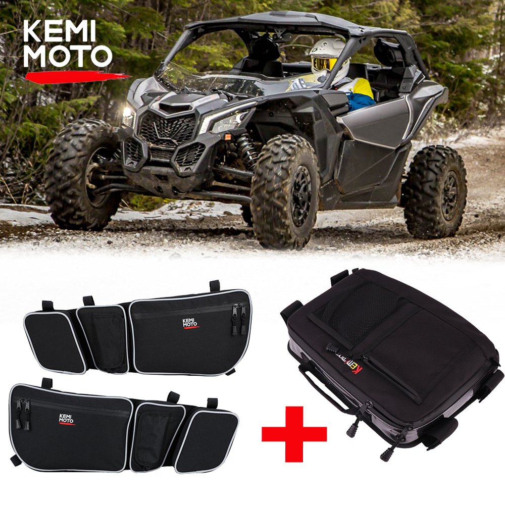 UTV Side Storage Door Bag Knee Pad Overhead Storage Bag For Can Am Maverick X3 R Maverick X3 Max R 4x4 Turbo DPS 2017-2018