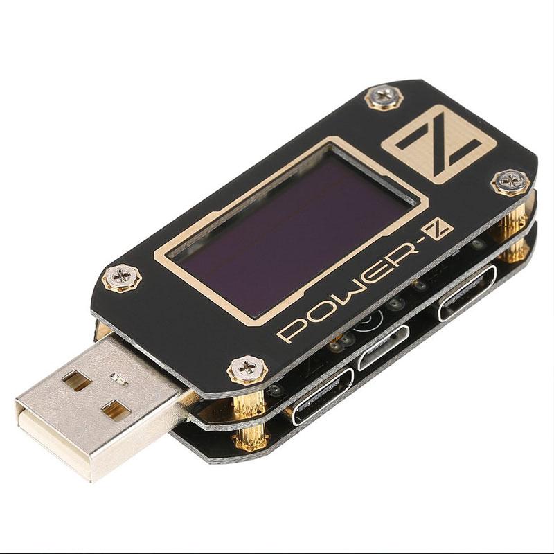 Aletler'ten Elektrikli Alet Setleri'de POWER Z USB PD test cihazı gerilim ve akım dalgalanma çift tip c aracı title=