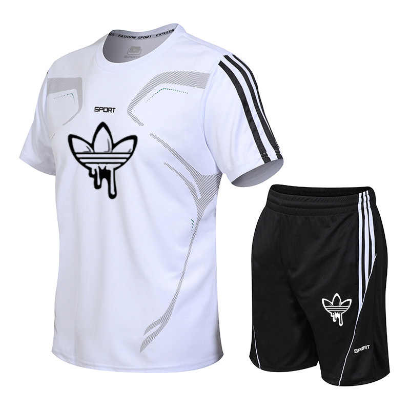 Hot Brand Sportswear Men Running Set Jogging Sport Tracksuit Fitness Quick Dry Men T shirt+Shorts Gym sports Sets soccer jerseys