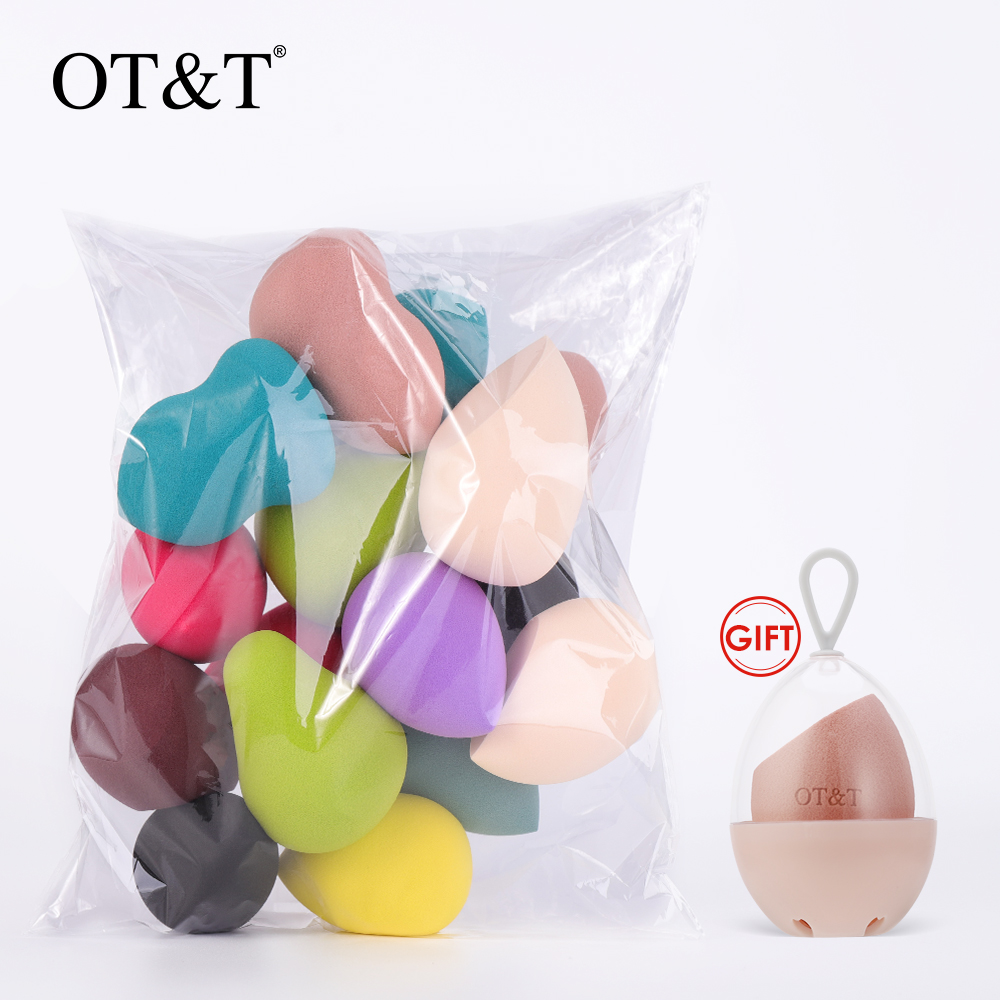 OT&T Makeup Sponge Set Face Beauty Cosmetic Powder Puff For Foundation Cream Concealer Make Up Blender Tools