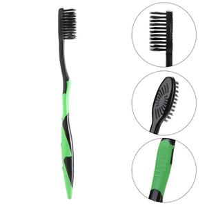 Image 3 - 4/5Pcs Bamboe Houtskool Tandenborstel Oral Care Antibacteriële Tandenborstel Met Zwarte Koppen Ultra Fijne Zachte Tandenborstel Voor volwassen