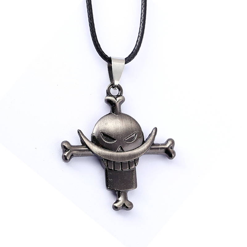 Anime One Piece White Beard Edward Logo Alloy Pendant Necklace Cosplay Gift