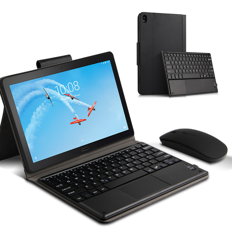 <font><b>Case</b></font> For <font><b>Lenovo</b></font> Tab P10 <font><b>TB</b></font>-<font><b>X705L</b></font> <font><b>TB</b></font>-X705F Protective Cover Bluetooth keyboard Protector PU Leather TAB P10 10.1